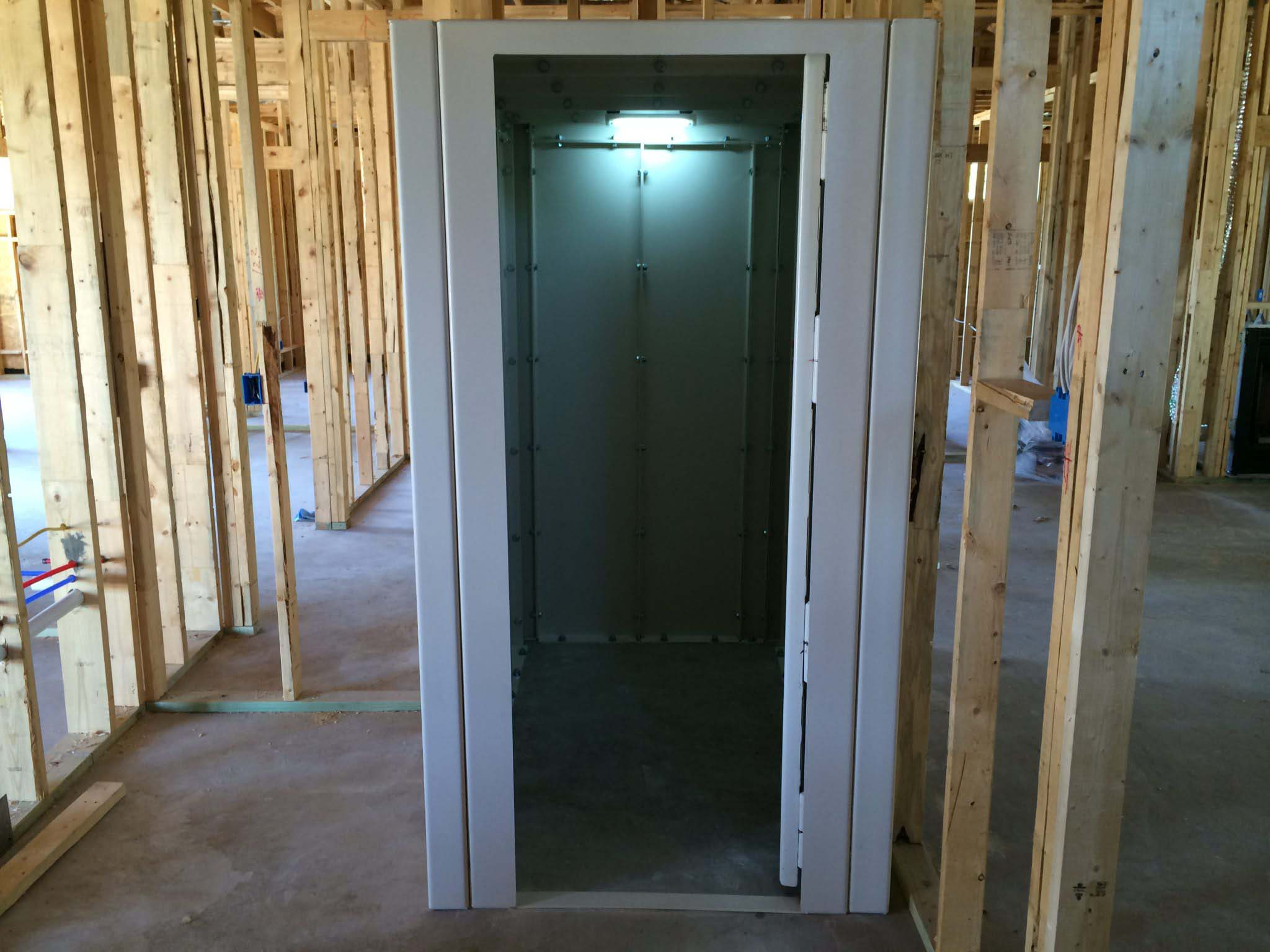 Lone star safe rooms gallery custom built in to your house for Built in safe room